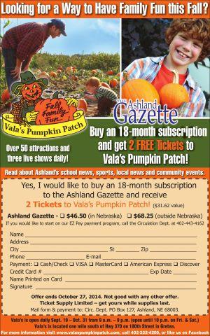 Vala's Pumpkin Patch - Ashland