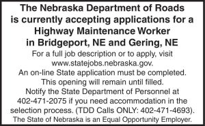 NE Dept of Roads - help wanted