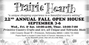 Prairie Hearth - Fall Open House