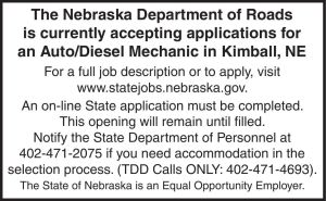 NE Dept of Roads - mechanic