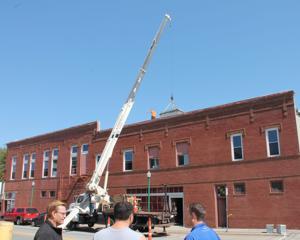 Work progresses on Hoffman building