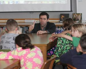 Author inspires elementary students