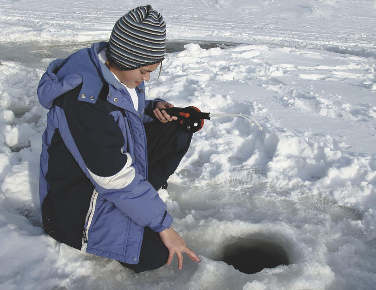 Youth fishing derby is all about the kids local news for Ice fishing derby