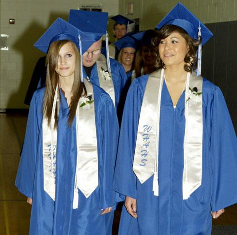 Graduation services held at wha laporte schools the for Laporte schools