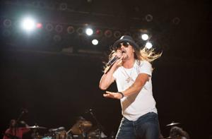 Kid Rock performed in front of a record crowd Thursday night, estimated at about 23,000 Jammers.