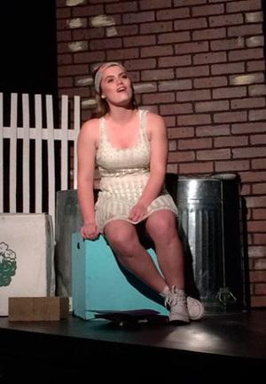 Audrey (Abigail Zismer) sings a song during the play that was staged May 6-7.