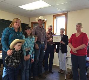 The Kuschel family, the Cass County Farm Family of the Year.