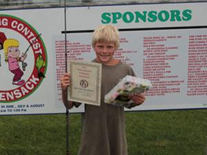The grand champion for the fifth week is 12-year-old Austin Rateike of Monticello. The Hackensack Children's Fishing Contest is held every Tuesday from 11 a.m. to 1 p.m.