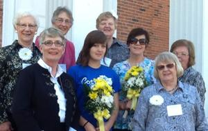 Pictured are (from left) Donna Evenson, Shirley Nelson, Phoebe Alden, Natalie Chaffee-Bates, Judy Berg, Sue Wickland, Carol Fjelstul and Sherry Kiisa.