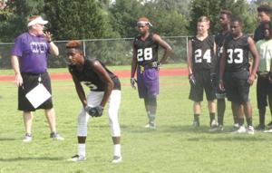 <p>The Monroe Area football team worked out Monday without pads.</p>