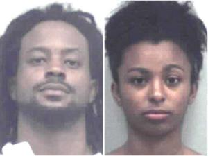 <p>Sean Anthony Swanson, left, 23, of Loganville, and Tia Jovon Coleman, 17, of Lawrenceville, are charged with murder in connection with the death of 20-year-old Noel Reed.</p>