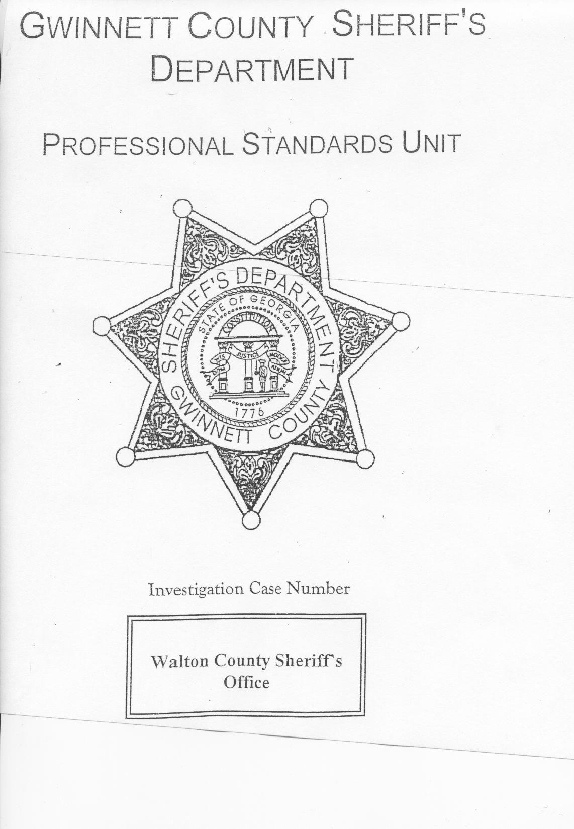 Gwinnett County Sheriff's Office Report on the Walton
