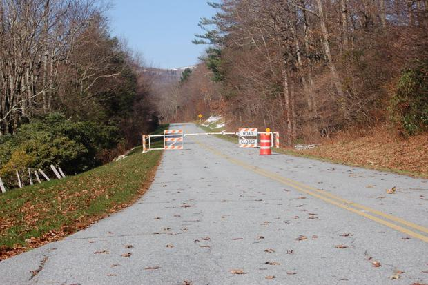 Portions of the Blue Ridge Parkway closed