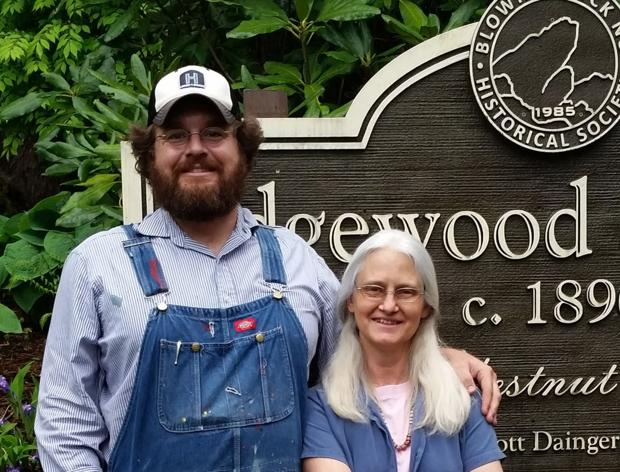 Susan Sharpe and Charlie Frye exhibiting art at Edgewood Cottage