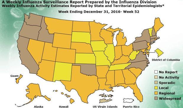 Flu now widespread in North Carolina