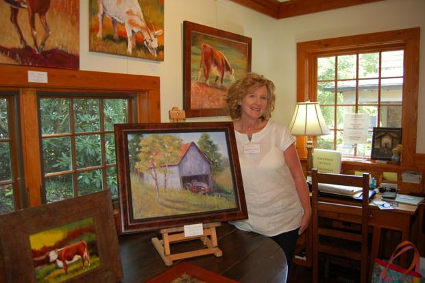 Woodworking and oil painting at Artists in Residence series