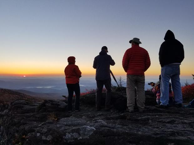 Enjoy the first sunrise of 2017 on Grandfather Mountain