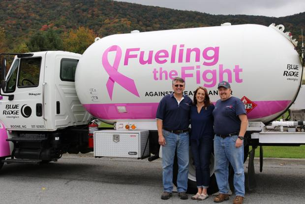Amy Michael and Blue Ridge Energies team up for Breast Cancer Awareness