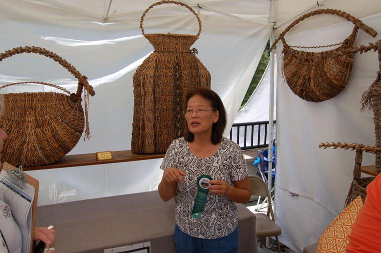 Basket Art By Samuel Yao : Art in the park attracts thousands to blowing rock