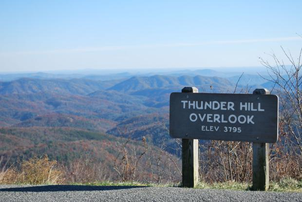 Thunder Hill Overlook sign stolen from Parkway