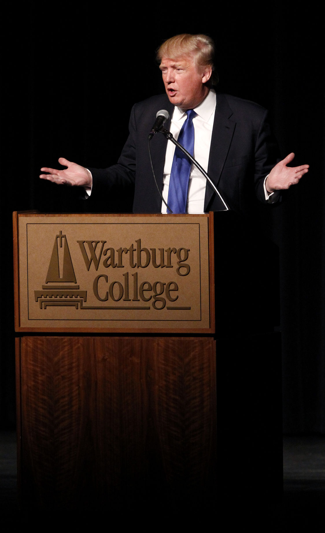 Trump gives business lessons at Wartburg College | Political News ...