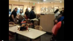 Fight at Waterloo IHOP posted on YouTube
