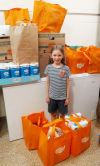 Waterloo 7-year-old collects food for her birthday