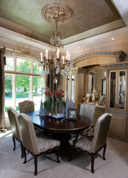 Old World Glitz Tuscan Inspired Dining Room Makes A