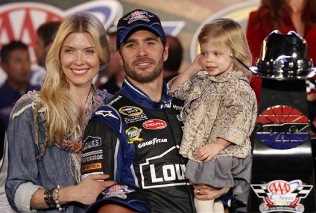 jimmie johnson  chandra johnson  genevieve johnson