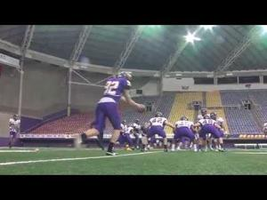 UNI Football Preps for Spring Game - April 24, 2015