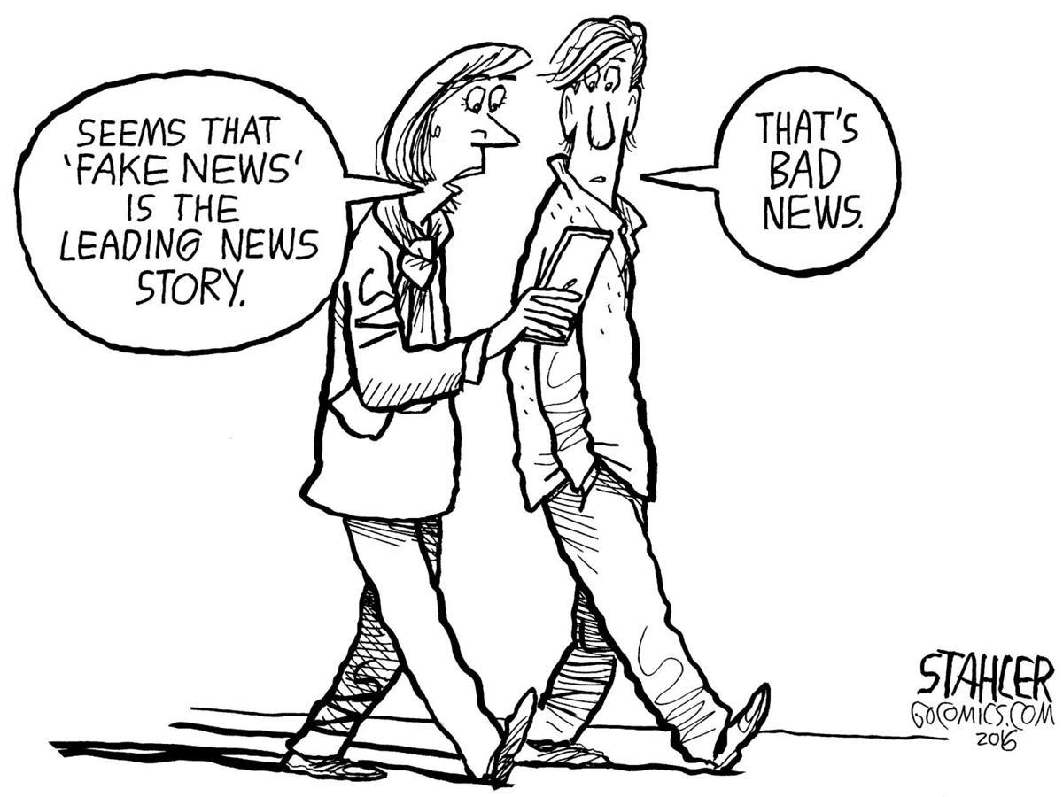 real news vs  fake news on the internet