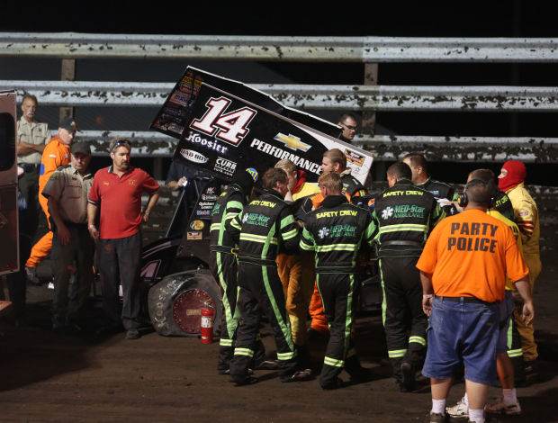 Tony Stewart Sprint Car Crash