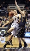 UPDATE WITH PICTURES: Rayburn's 14 leads No. 17 Purdue women past Iowa