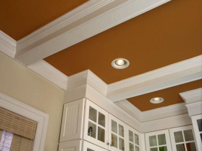 Go faux with wood beams molding and painting special for Adding wood beams to ceiling