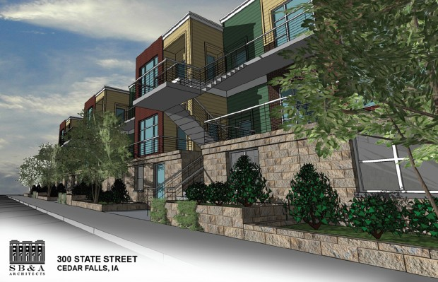 Portion Of Downtown Cedar Falls Apartment Plan Detailed