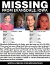 Poster of missing girls in Evansdale