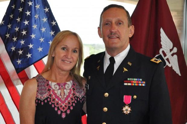 army dentist receives legion of merit medal
