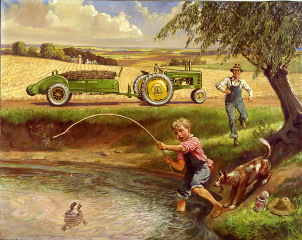 Girly John Deere Paintings : Near and deere