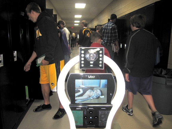 homebound student sends robot to school