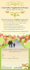 Cedar Valley Neighborhood Project submission form
