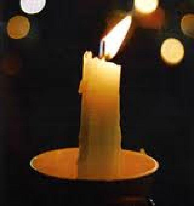 Memorial Candle Clip Art Candlelight memorial service: