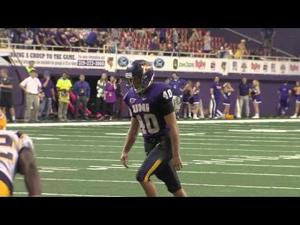 UNI Football's Michael Schmadeke Breaks School Record