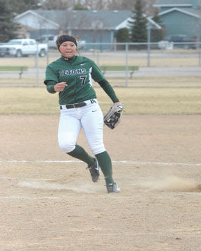 <p>Shelby Sheriff throws a pitch last season for Williston State College at Dakota Parkway. The Lady Tetons will open the home portion of their 2015 season Wednesday at Dakota Parkway.</p>