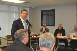 <p>Stropiq's Terry Olin addresses Williams Co. Planning and Zoning on Thursday, pitching the firm's large development proposal near Love's.</p>
