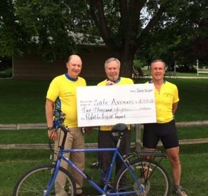 Safe Avenues receives check for $2015 raised by Pedal for Project Impact