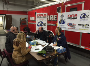 Radio for relief taking place at Willmar Fire Hall