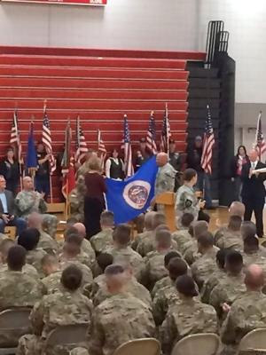 Deployment ceremony fills WHS gym