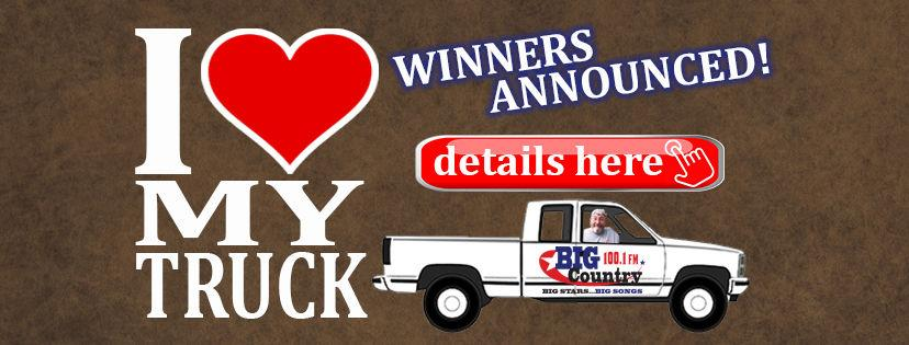 """I Love My Truck"" winners with Big Country 100.1 