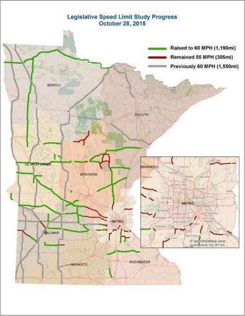 MnDOT road changes map – Mn Dot Travel Map