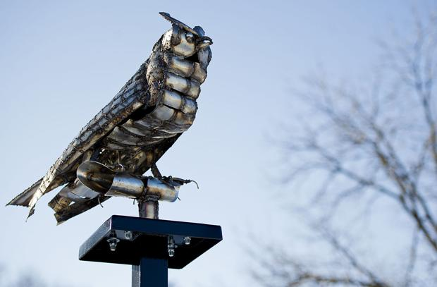 Owl Center celebrates annual festival with new storefront, statues